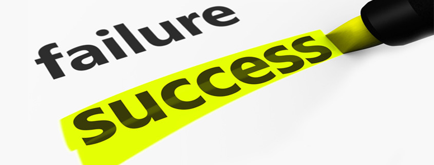 a white background with the words success and failure