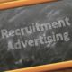 Recruitment Advertising written in a blackboard